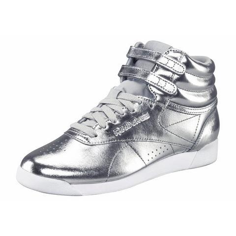 Reebok Freestyle damessneaker zilver en wit