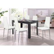 my home eethoek lynn + brooke 4 stoelen met tafel in leisteenkleur, breedte 120 cm (set, 5-delig) grijs