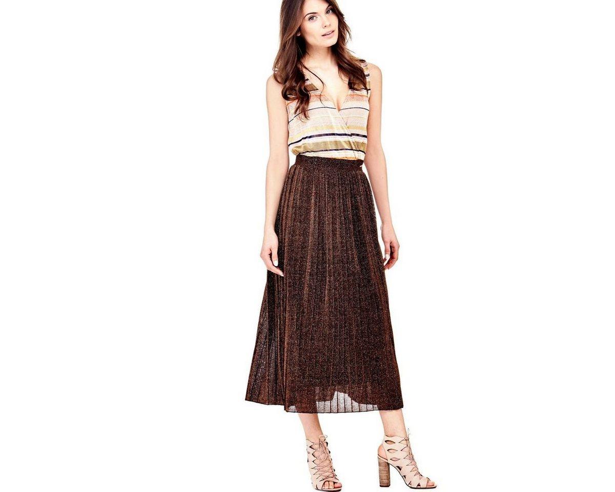 Guess jurk in viscosemix bruin