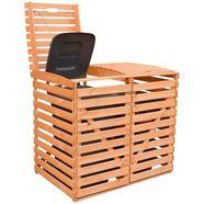 promadino kliko-ombouw voor 2x120 l van hout, bxdxh: 130x63x111 cm bruin