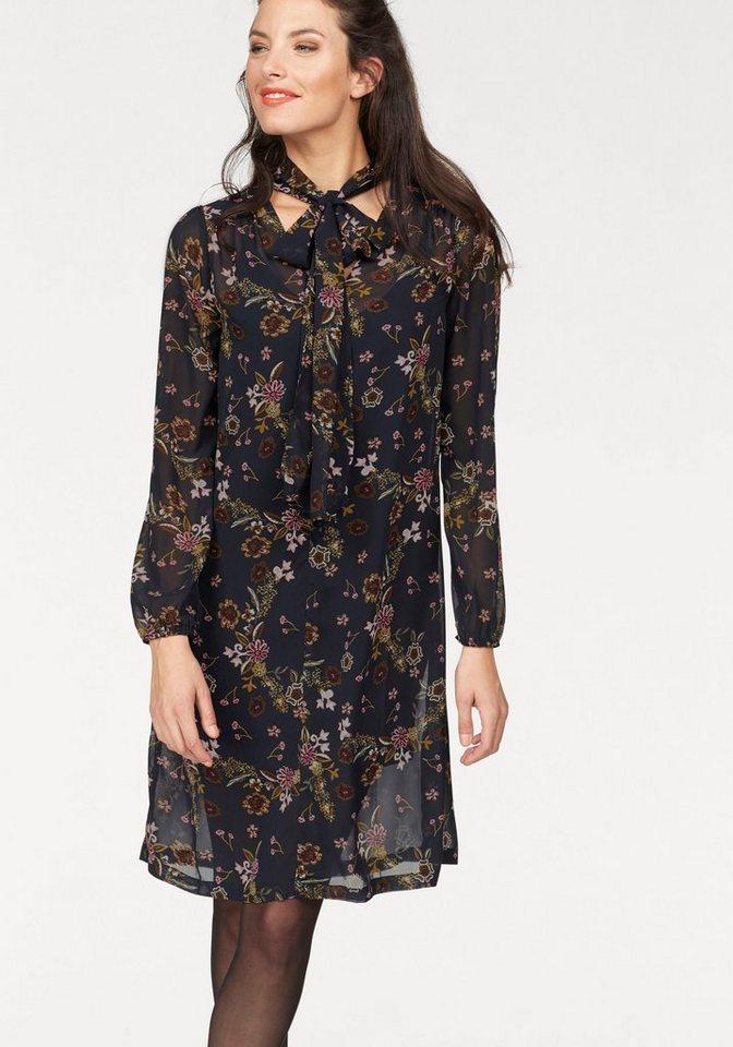 Aniston gedessineerde jurk blauw