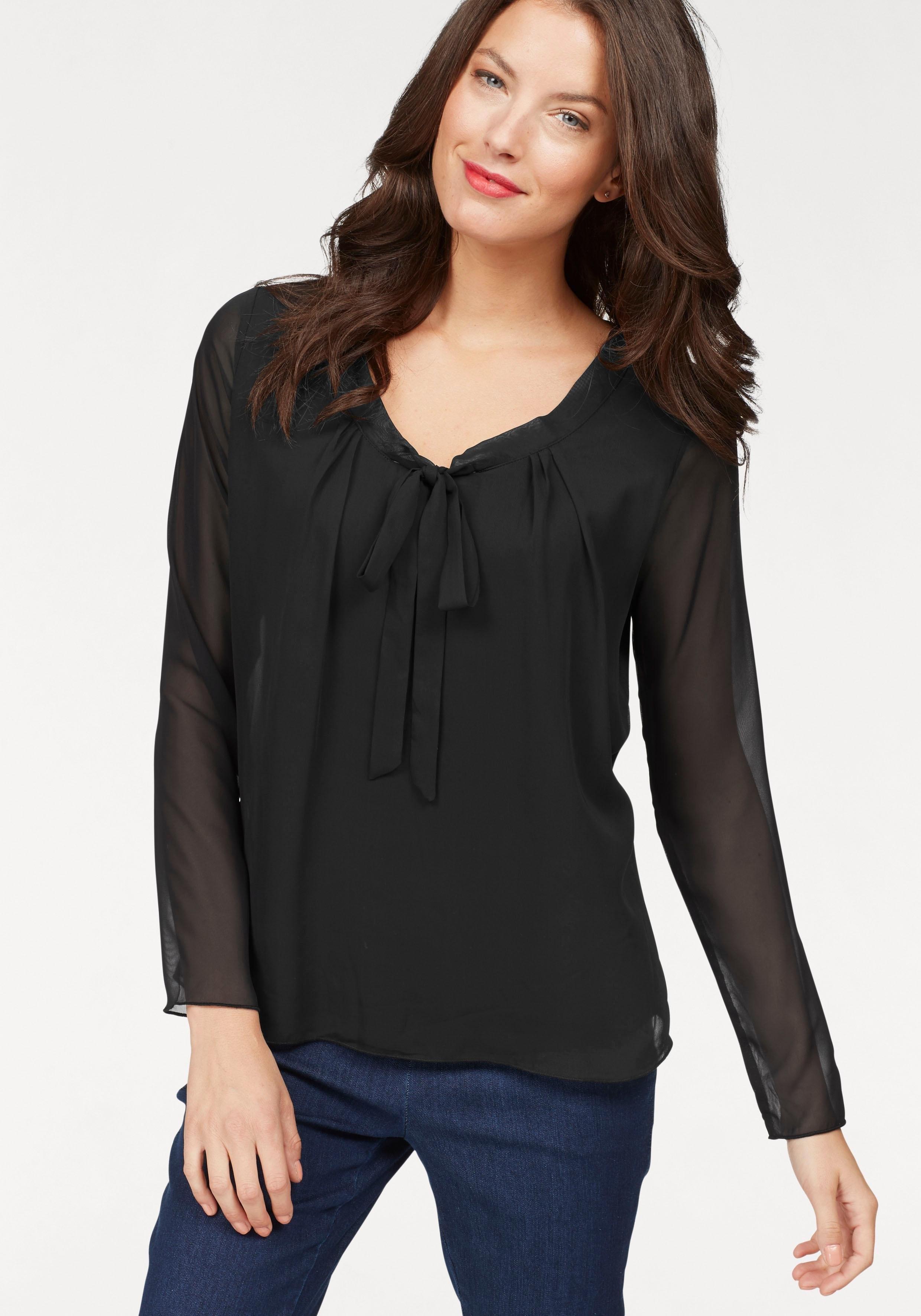 chique zwarte blouse