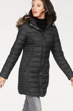 aniston doorgestikte mantel zwart