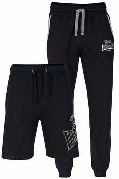 lonsdale joggingbroek set: joggingbroek en short zwart