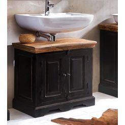 sit bad-onderkast »corsica«, met twee deuren, breedte 66 cm zwart