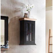 sit hangvitrine corsica met 1 deur, breedte 44 cm, shabby chic, vintage zwart