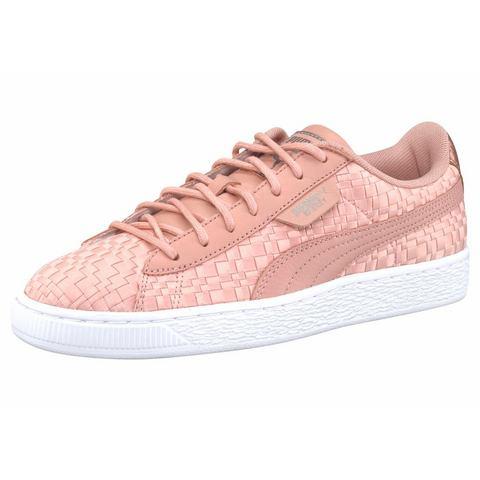 Puma Basket damessneaker beige, wit en roze