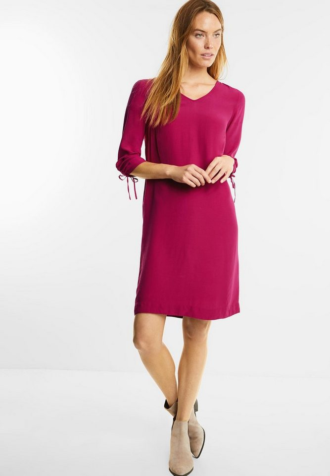Street One jurk met plooimouwen roze