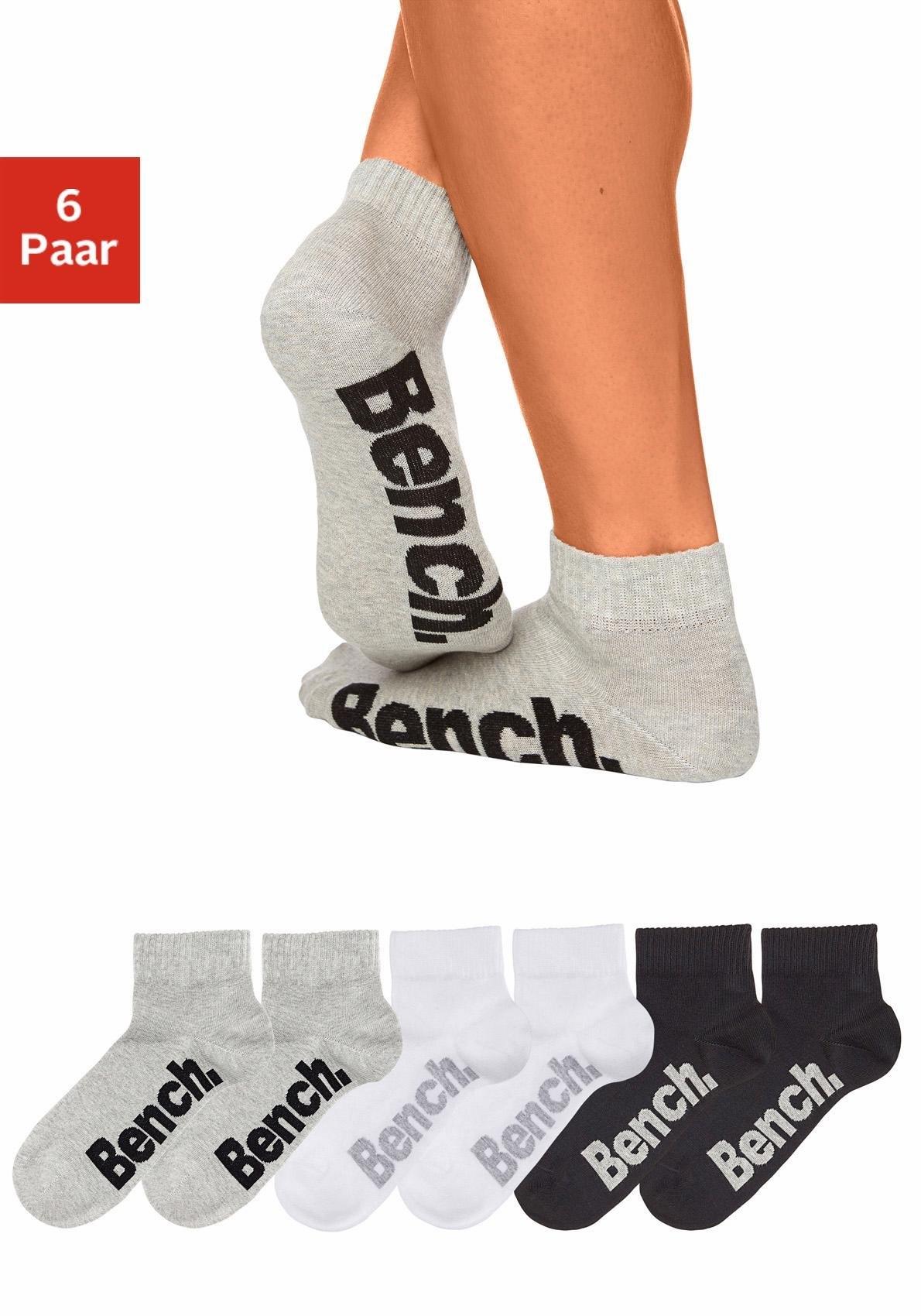 Bench. korte sokken (6 paar) met comfortabele ribboorden - verschillende betaalmethodes