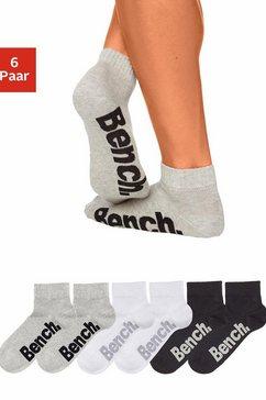 bench. korte sokken met comfortabele ribboorden (6 paar) multicolor