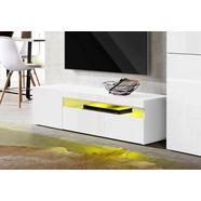 tecnos tv-meubel breedte 130 cm, zonder verlichting wit