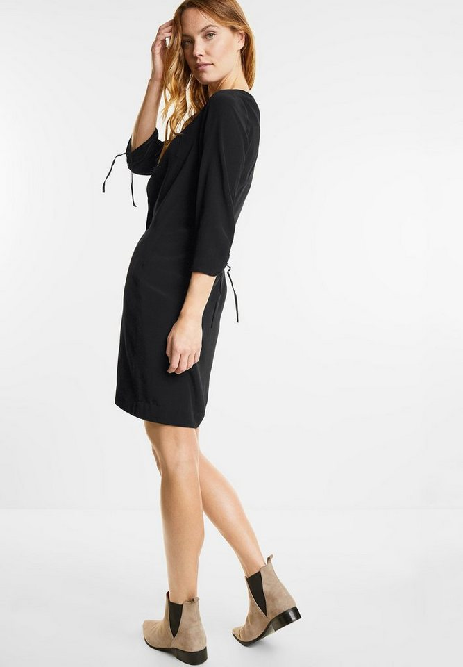 Street One jurk met plooimouwen zwart