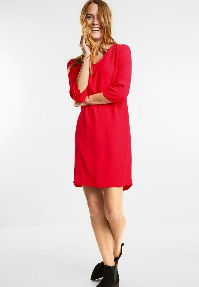 Street One jurk met plooimouwen rood