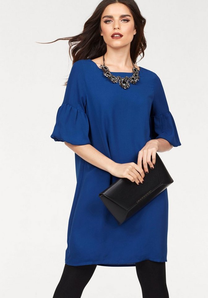 Vero Moda geweven jurk PERFECT blauw
