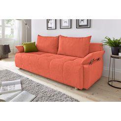 collection ab bedbank met binnenvering, inclusief bedkist oranje