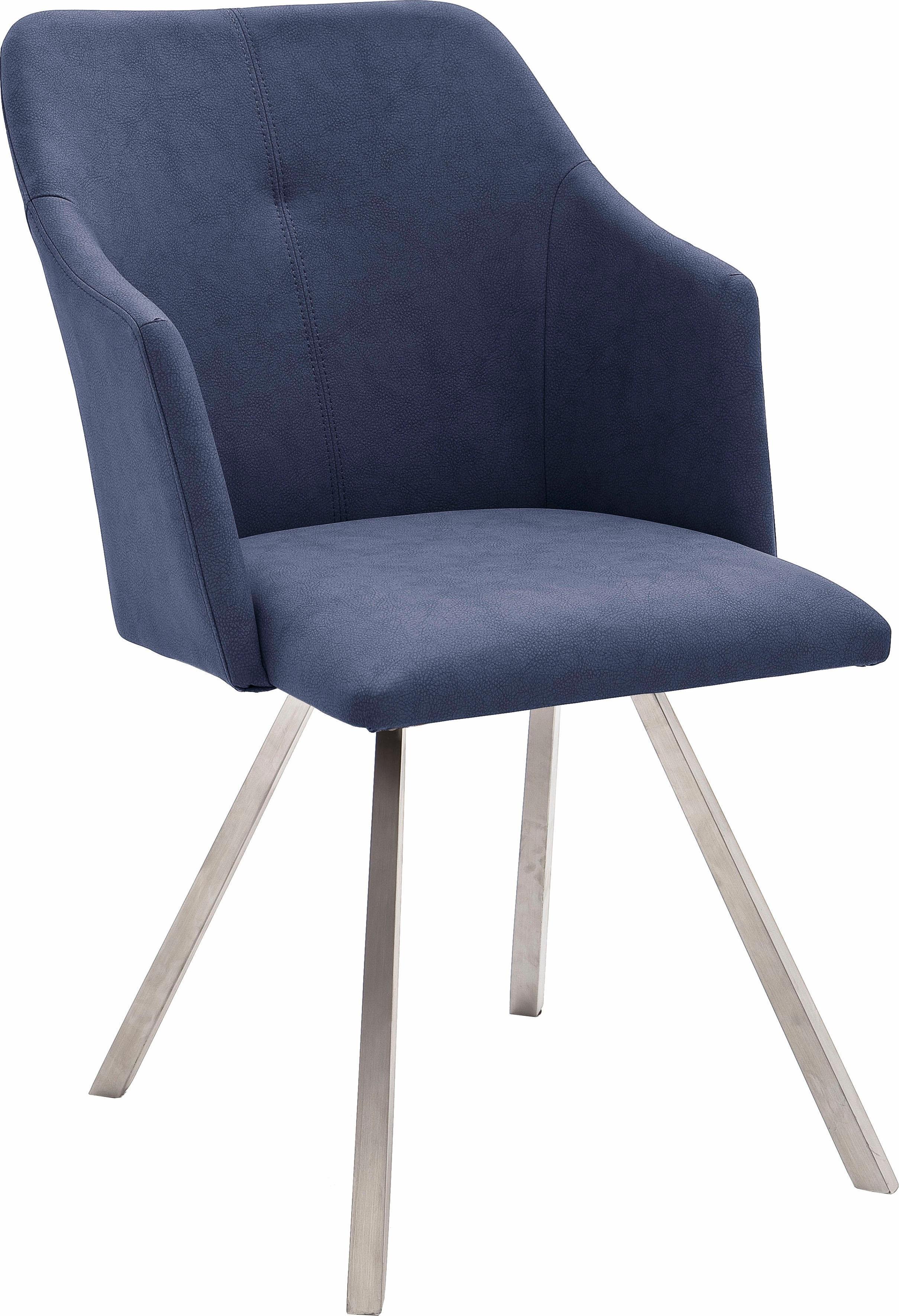 MCA furniture eetkamerstoel Madita 4 voet stoel B-hoekig Stoel belastbaar tot max. 140 kg (set, 2 stuks) voordelig en veilig online kopen