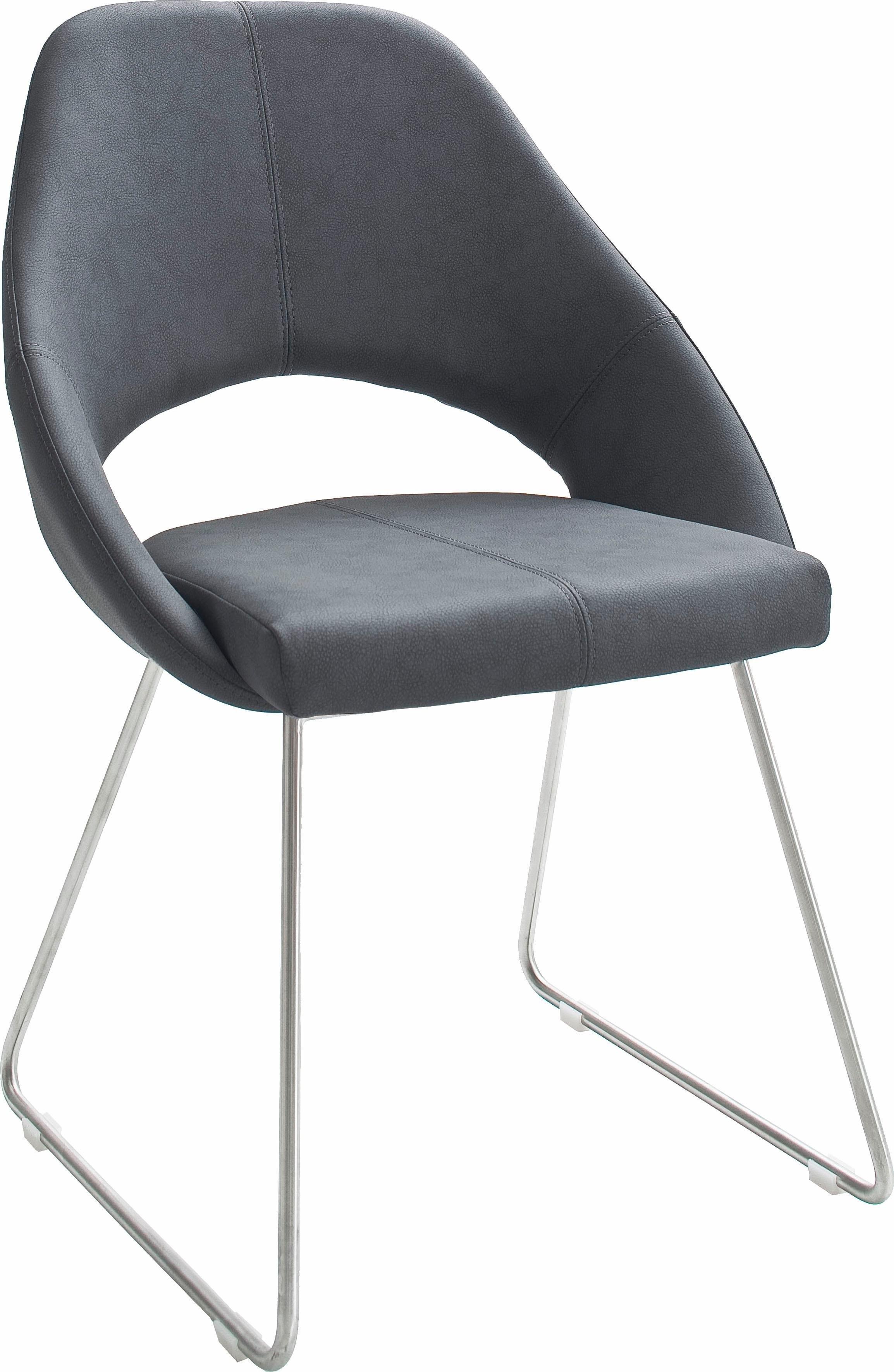 MCA furniture stoel met beugelpoten Dajana Stoel tot 120 Kg belastbaar (set, 2 stuks) nu online bestellen