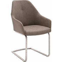 mca furniture vrijdragende stoel madita a stoel max. belastbaar tot 130 kg (set, 2 stuks) bruin