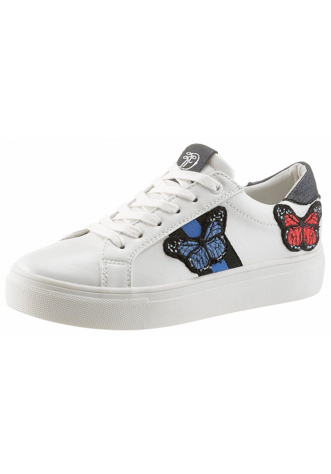 Tom Tailor sneakers koop je bij  wit/navy
