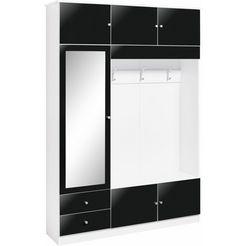 garderobemeubel kompakta met spiegel zwart