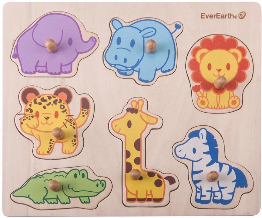 Everearth Houten speelgoed, »Puzzel - safaridieren« in de webshop van OTTO kopen