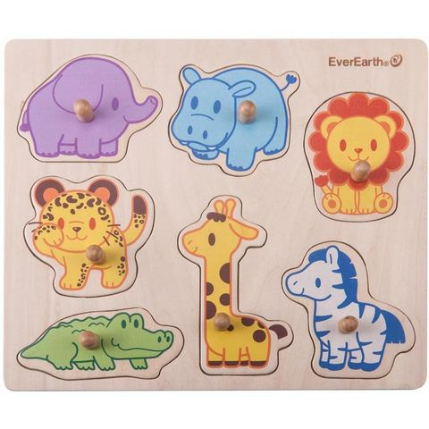 Houten speelgoed, Puzzel safaridieren