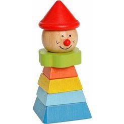 everearth houten speelgoed, »clown met rode hoed« multicolor
