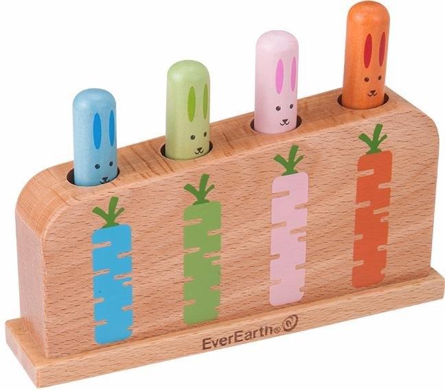 Everearth ® houten speelgoed, »Klopspel huppelende konijnen« - gratis ruilen op otto.nl