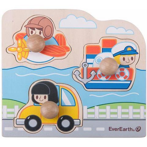 EverEarth® houten speelgoed, Grote ark van Noach met 14 dieren