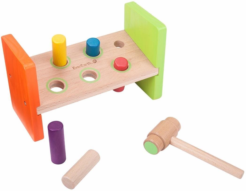 Everearth ® houten speelgoed, »Timmer- en hamerbank« bestellen: 14 dagen bedenktijd