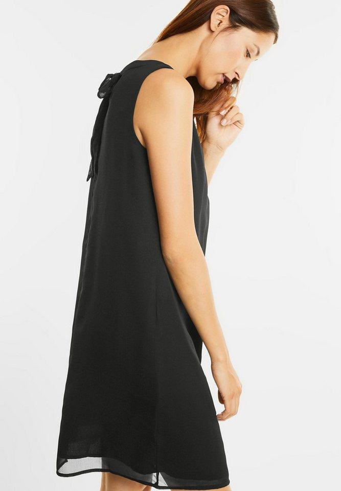 Street One chiffon jurk met strik zwart
