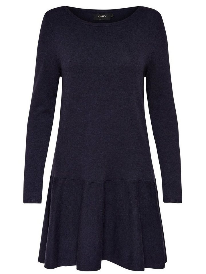 ONLY Loose fit gebreide jurk grijs