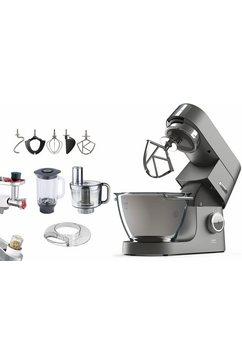 Keukenmachine Chef Titanium KVC7320S, 4,6 liter, grijs, met accessoireset, 1500 Watt