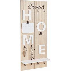 home affaire kapstokpaneel »sweet home« beige