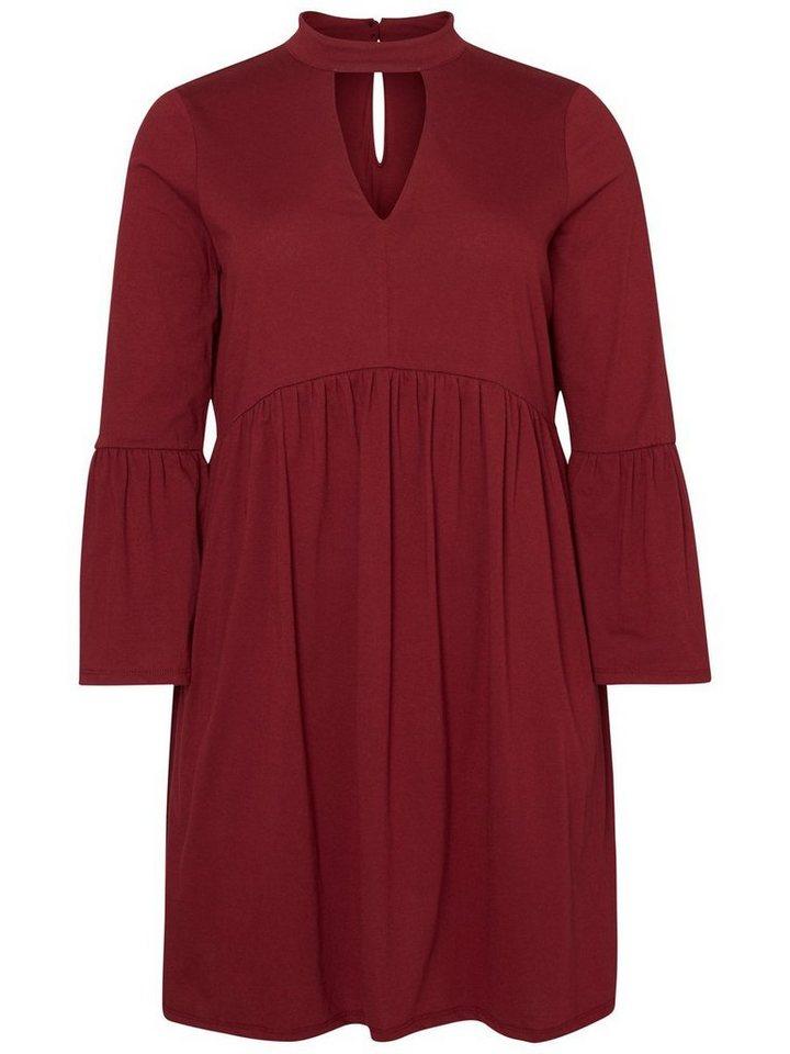 Junarose Volant jurk paars