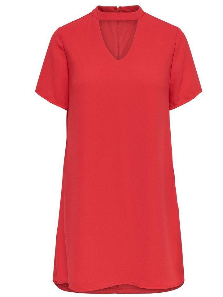 ONLY Choker jurk rood