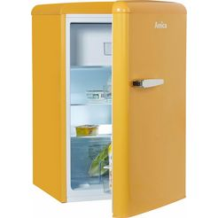 amica koelkast ks 15614 s, a++, 86 cm hoog geel