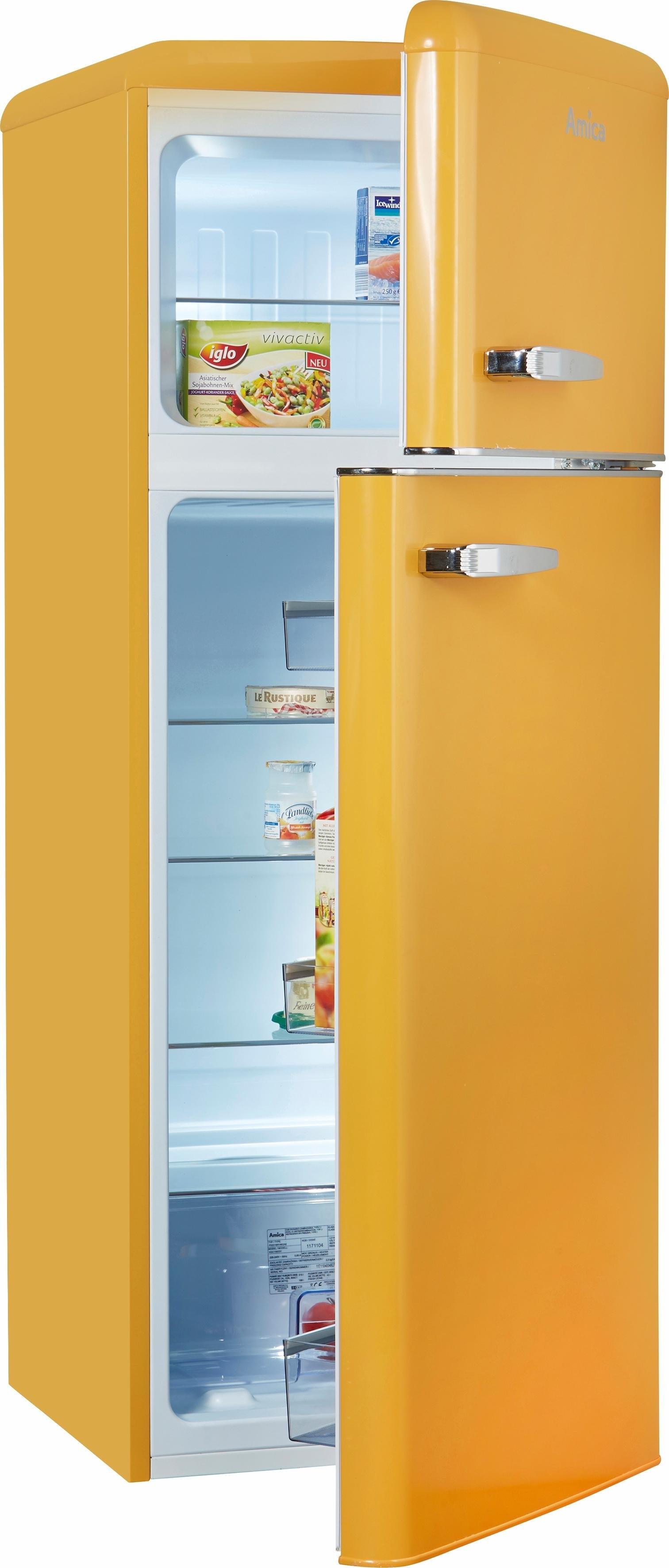 Amica koel-vriescombinatie KGC 15635 B, A++, 144 cm hoog goedkoop op otto.nl kopen