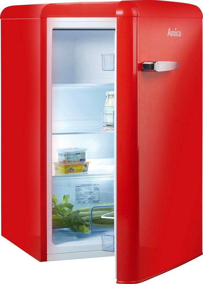 Afbeelding van Rode Amica koelkast KS 15610 R, A++, 86 cm hoog