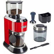 de'longhi koffiemolen dedica kg520.r, kegelmaalwerk rood
