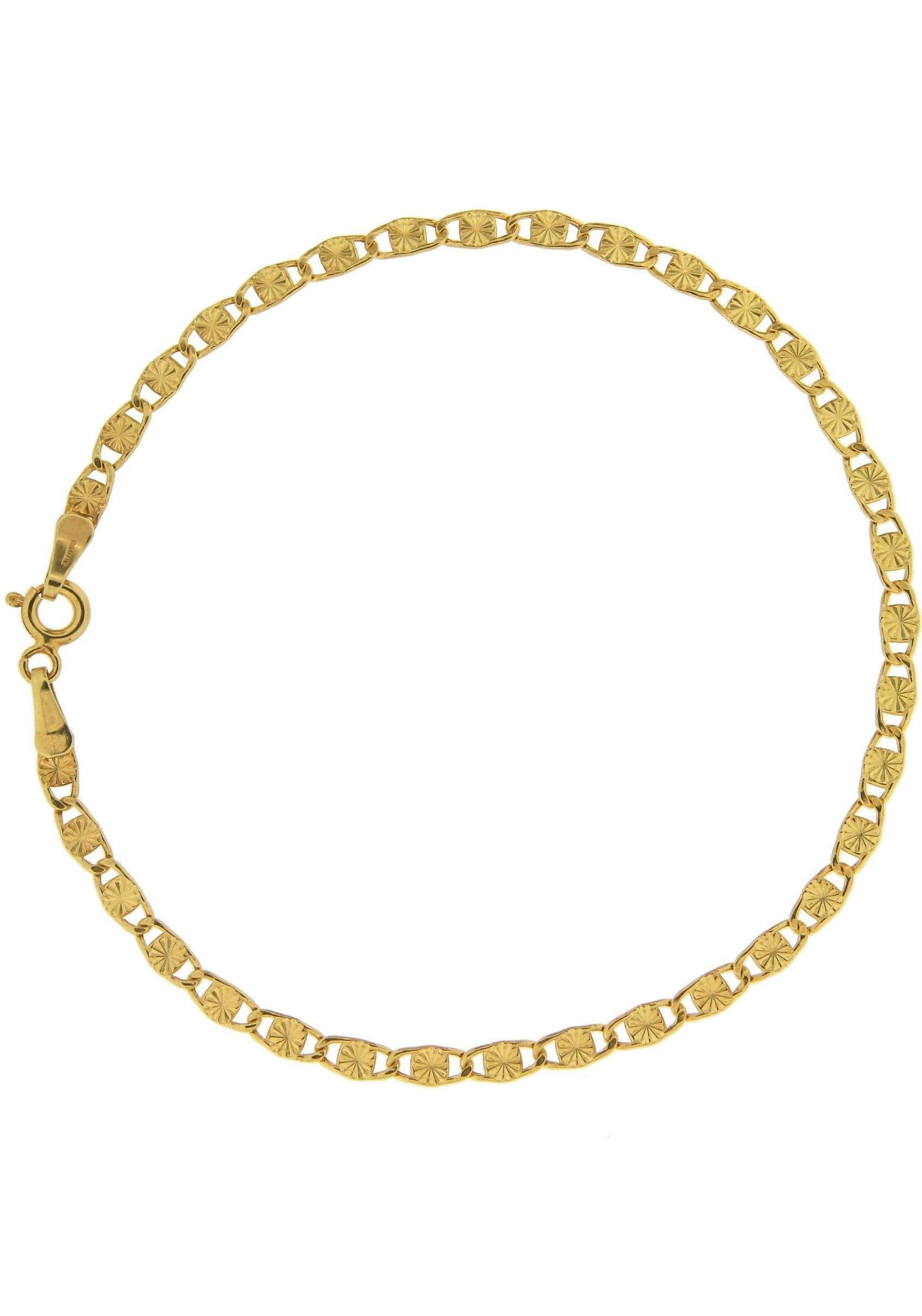 Firetti goudkleurige armband Plaatjesschakels, gediamanteerd, glans, 3 mm breed nu online kopen bij OTTO