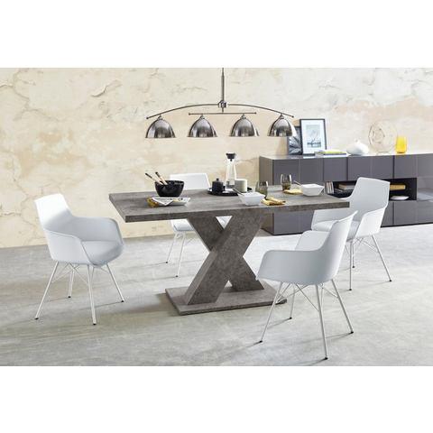 Eethoek 5-delig, tafelbreedte 160 cm in cement-look