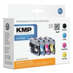 kmp inktpatronenset vervangt brother »lc-223bk-c-m-y« multicolor