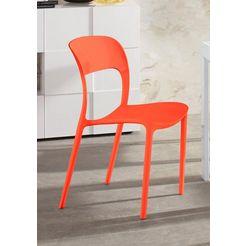 stoel (set van 4) (set, 4 stuks) oranje