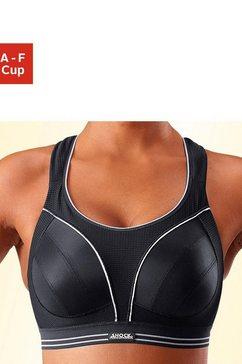 shock absorber sport-bh run zonder beugels, de ideale beha voor loopsporten en takken van sport met sterke belasting zwart