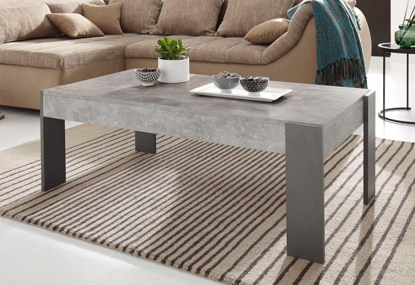 Grijze Salon Tafel.Salontafel In Moderne Beton Look