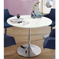 eettafel, diameter 110 cm wit