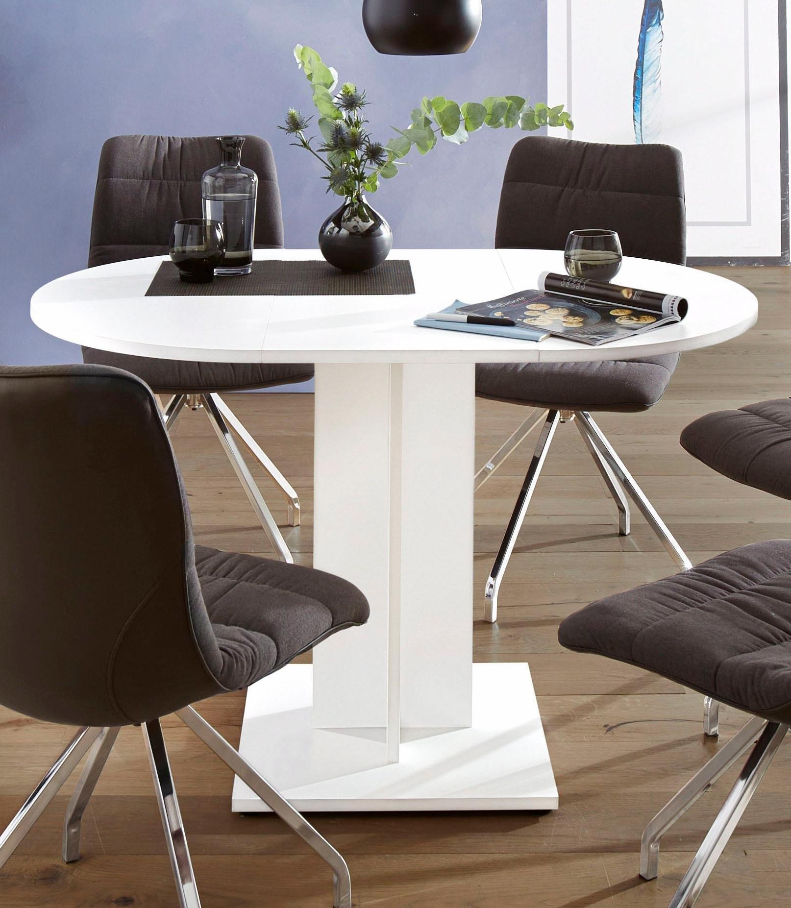 eettafel rond diameter 80 cm met uittrekfunctie online kopen otto. Black Bedroom Furniture Sets. Home Design Ideas
