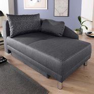jockenhoefer gruppe récamier chaise longue met slaapfunctie en bedkist, met binnenvering, links of rechts te monteren grijs
