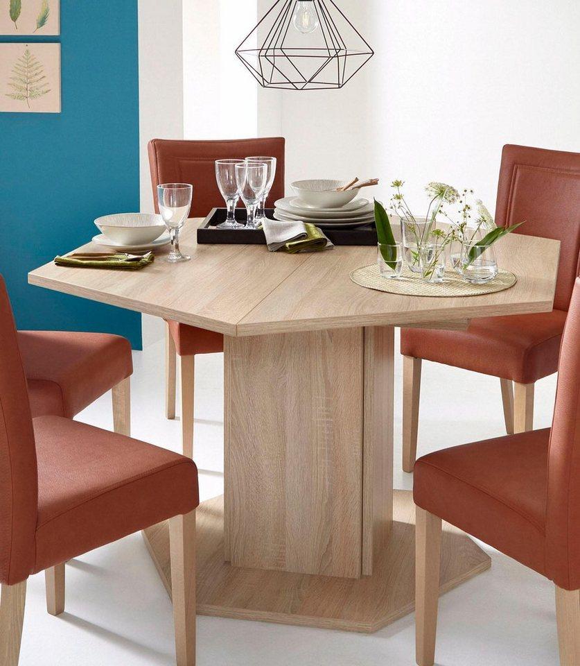 Eettafel op zuil, breedte 121 cm